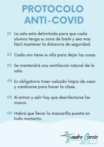 Protocolo anti-covid de la escuela